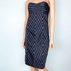 Express black with metallic stripes dress 8